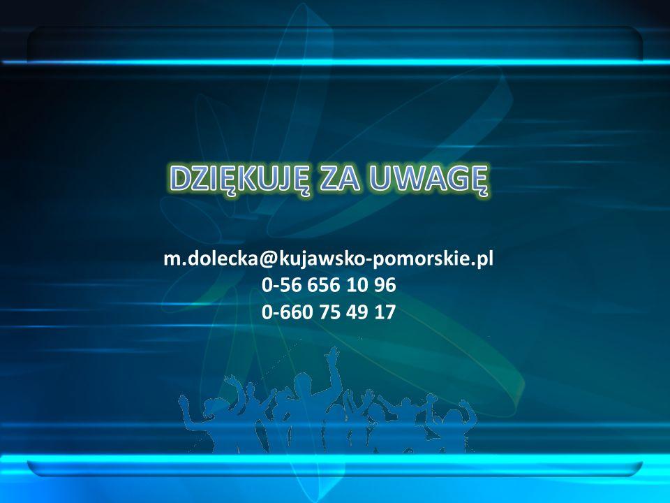 DZIĘKUJĘ ZA UWAGĘ m. dolecka@kujawsko-pomorskie