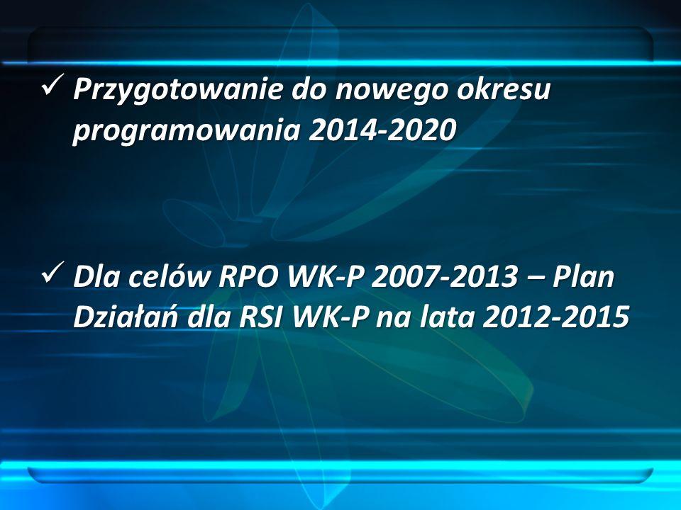 Przygotowanie do nowego okresu programowania 2014-2020
