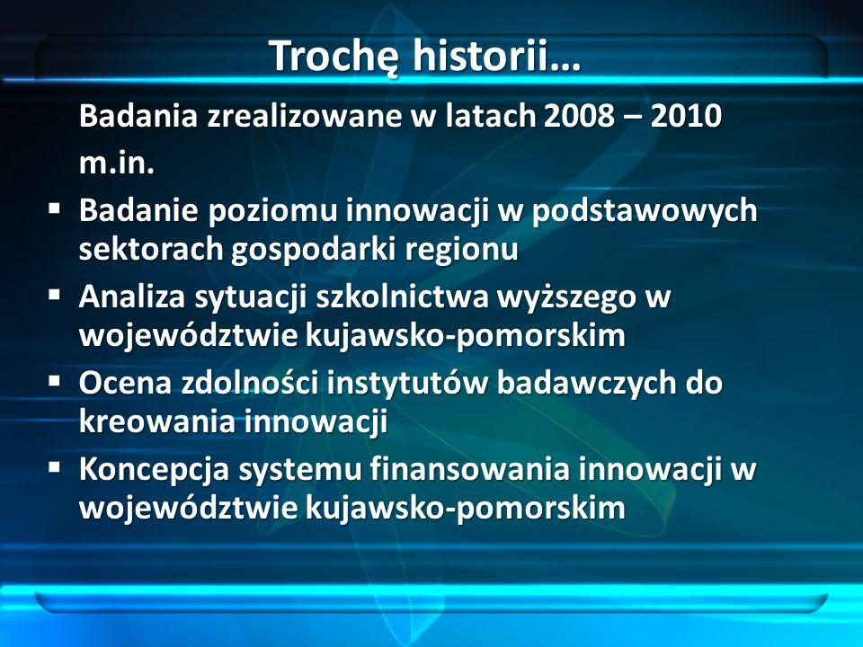 Trochę historii… Badania zrealizowane w latach 2008 – 2010 m.in.