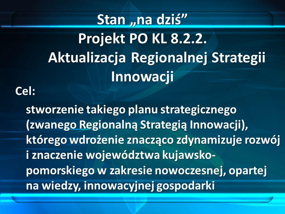 "Stan ""na dziś Projekt PO KL 8. 2. 2"