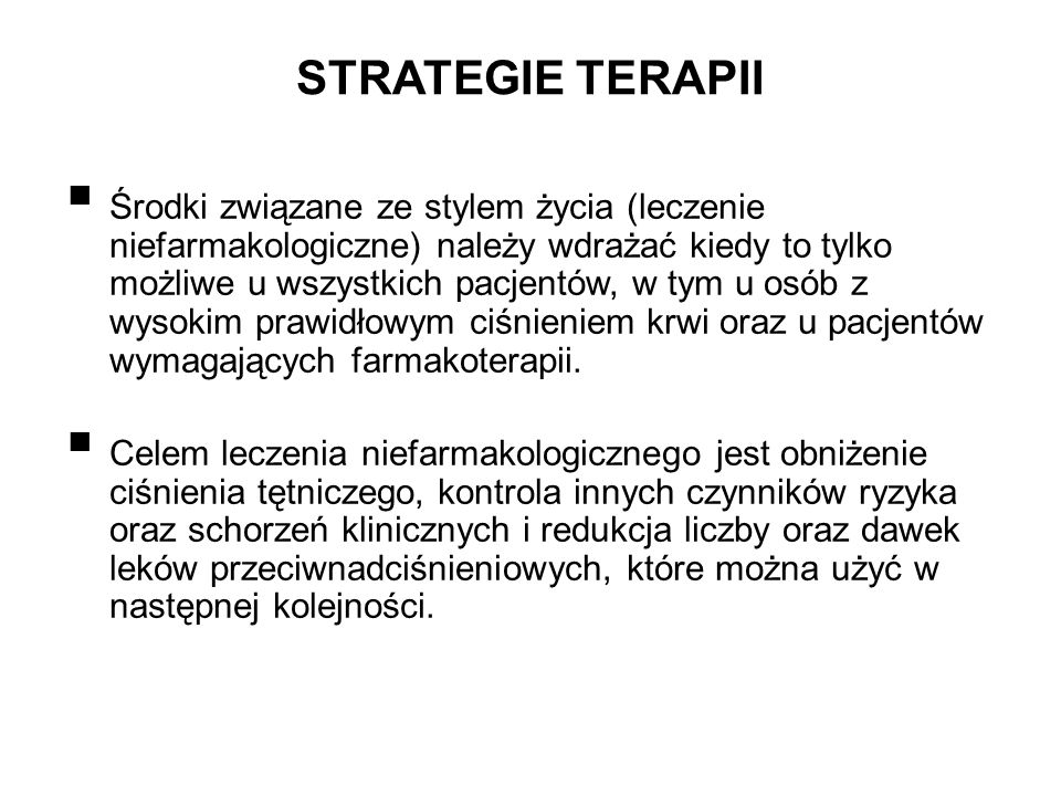 STRATEGIE TERAPII