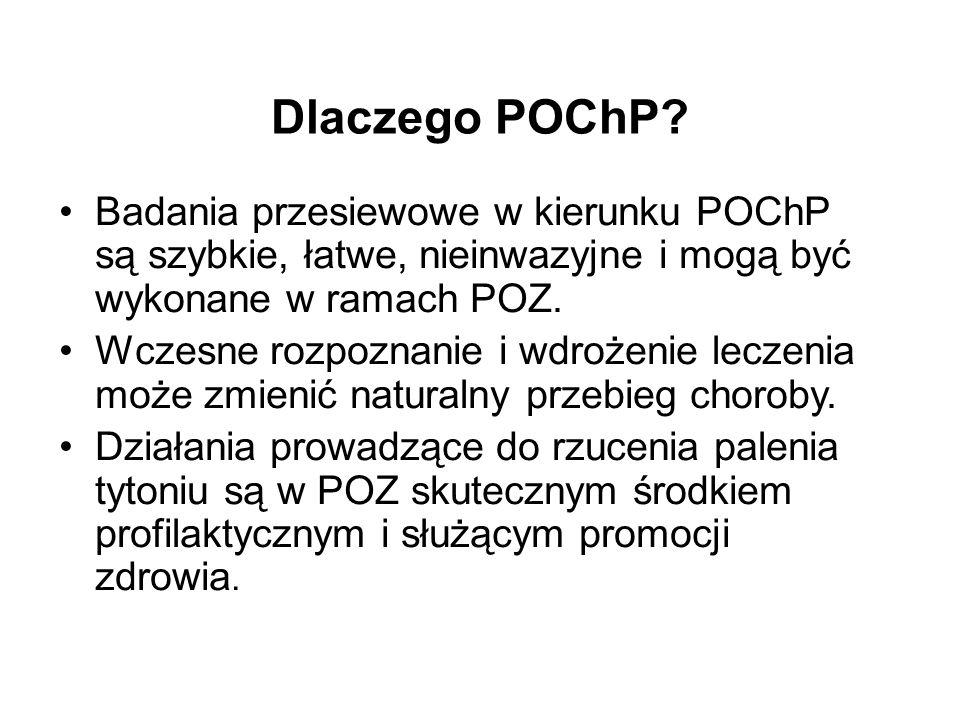 Dlaczego POChP Badania przesiewowe w kierunku POChP są szybkie, łatwe, nieinwazyjne i mogą być wykonane w ramach POZ.