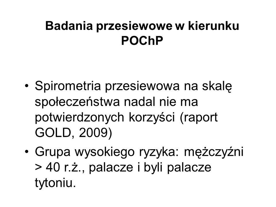 Badania przesiewowe w kierunku POChP