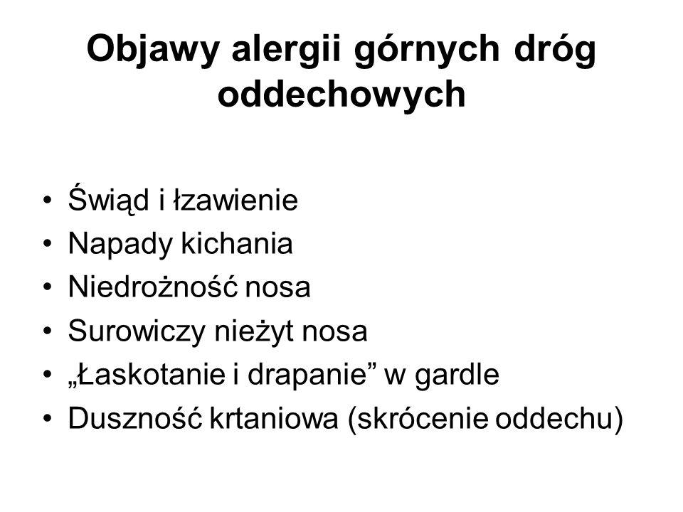 Objawy alergii górnych dróg oddechowych