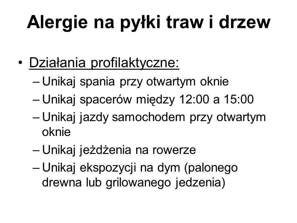 Alergie na pyłki traw i drzew