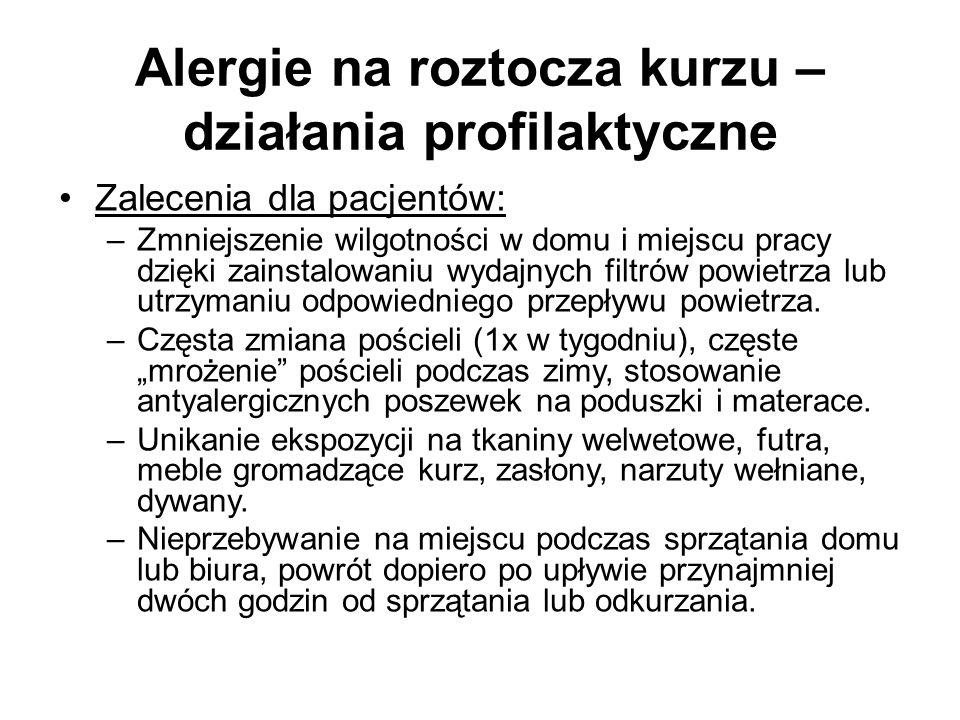 Alergie na roztocza kurzu – działania profilaktyczne