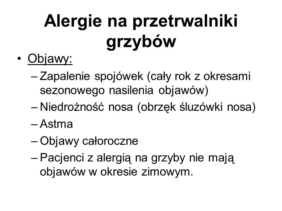 Alergie na przetrwalniki grzybów