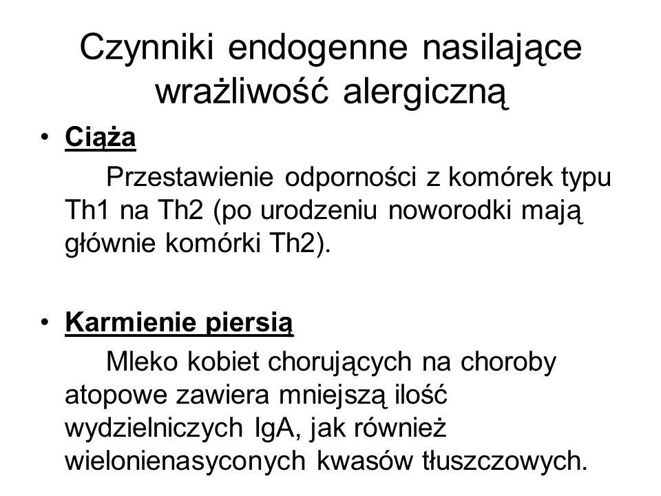 Czynniki endogenne nasilające wrażliwość alergiczną