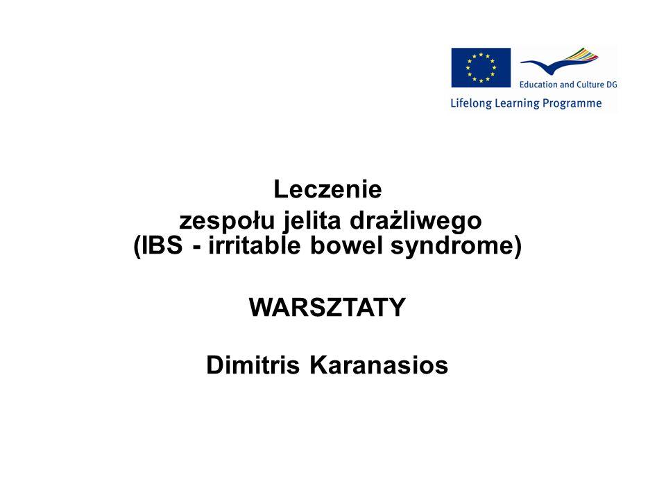 zespołu jelita drażliwego (IBS - irritable bowel syndrome)
