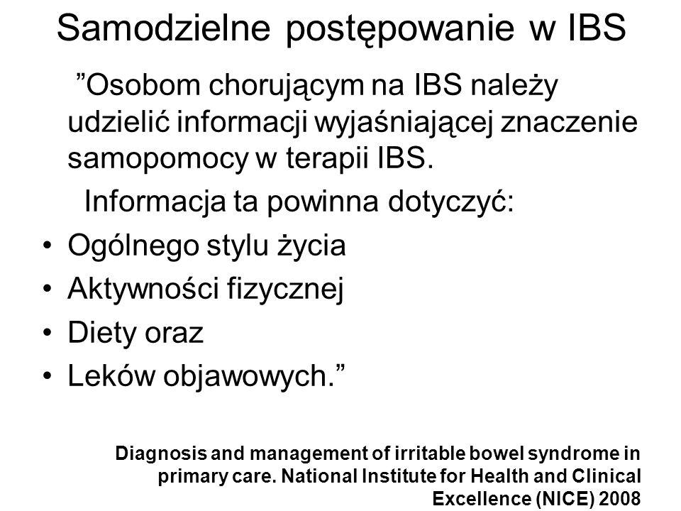 Samodzielne postępowanie w IBS