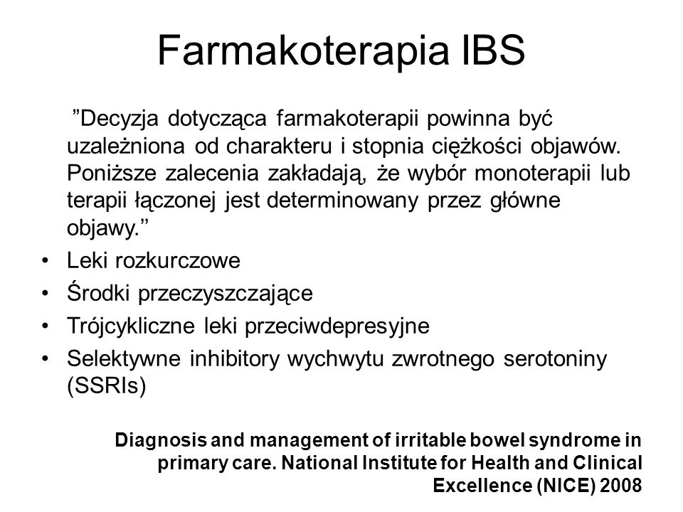 Farmakoterapia IBS