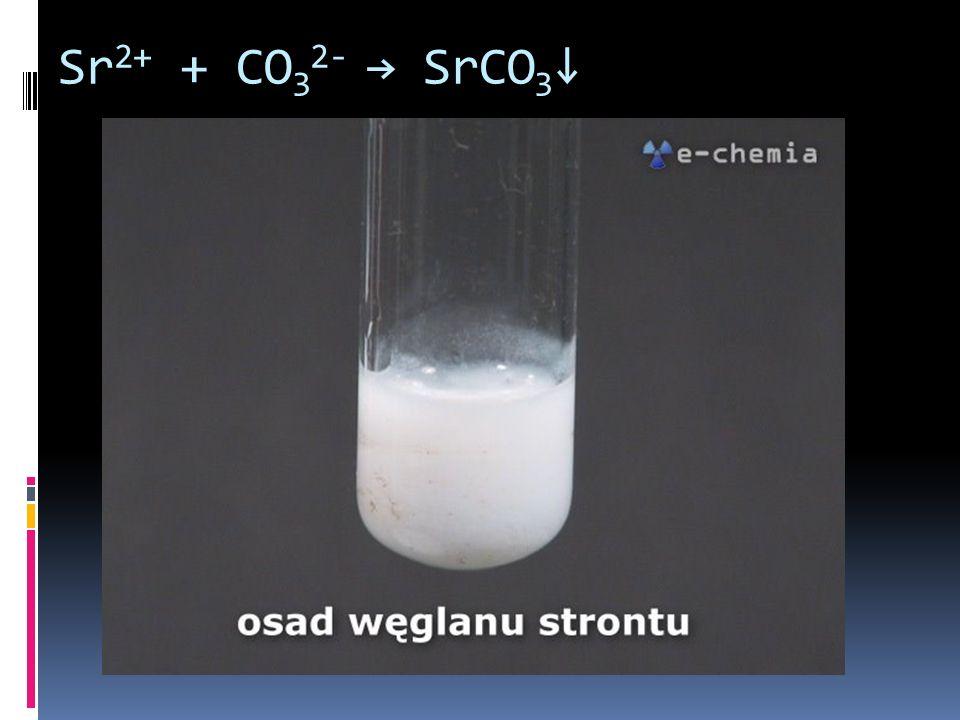 Sr2+ + CO32- → SrCO3↓
