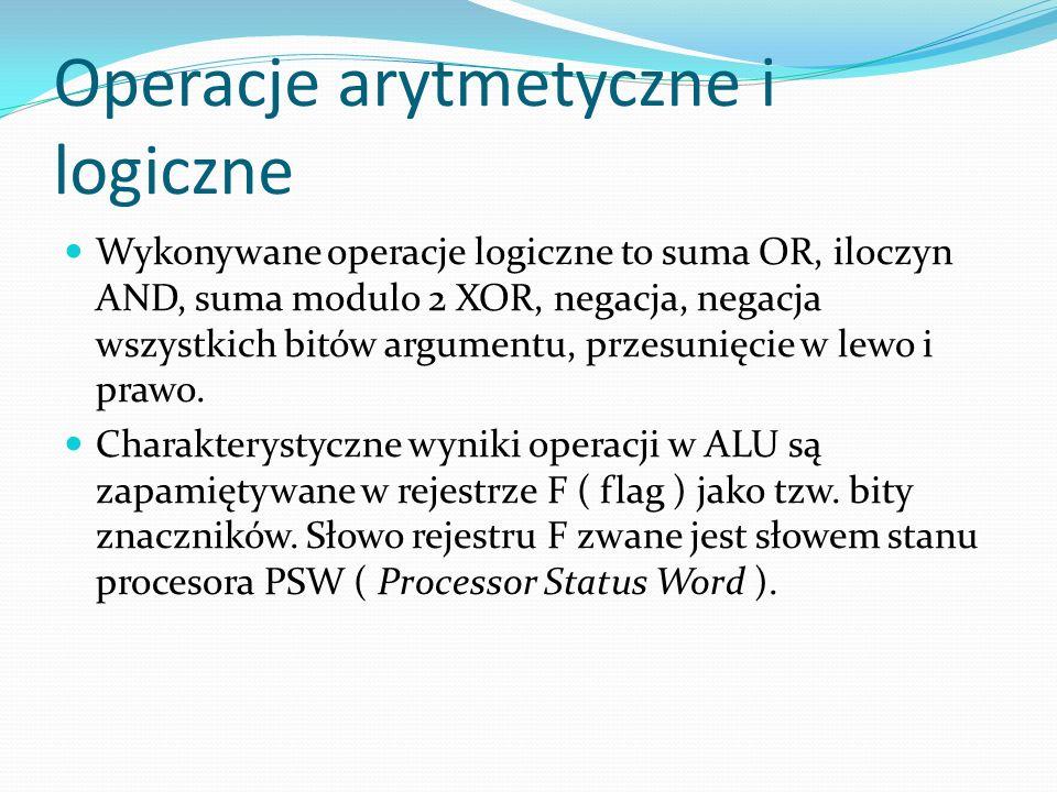 Operacje arytmetyczne i logiczne