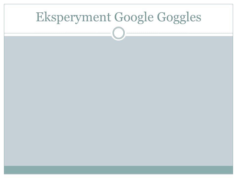 Eksperyment Google Goggles