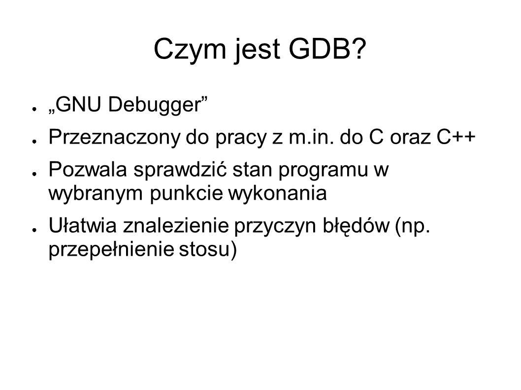 """Czym jest GDB """"GNU Debugger"""