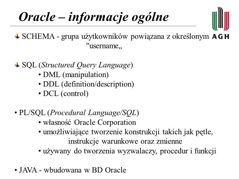 Oracle – informacje ogólne
