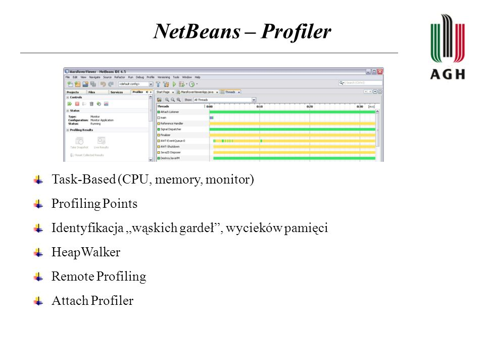 NetBeans – Profiler Task-Based (CPU, memory, monitor) Profiling Points