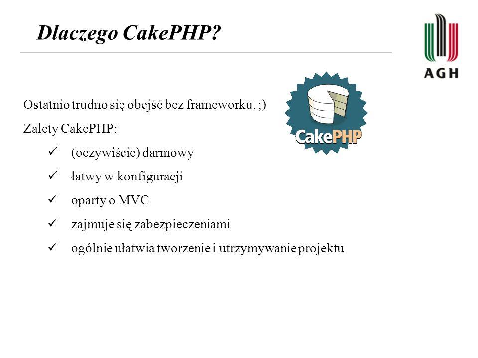 Dlaczego CakePHP Ostatnio trudno się obejść bez frameworku. ;)