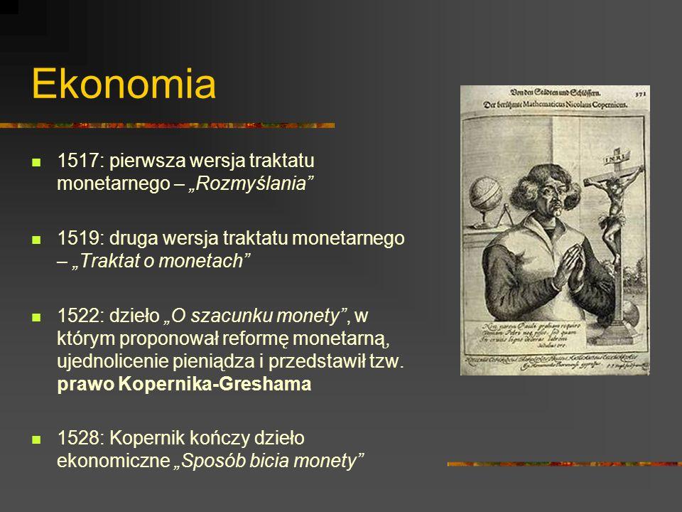"""Ekonomia 1517: pierwsza wersja traktatu monetarnego – """"Rozmyślania"""