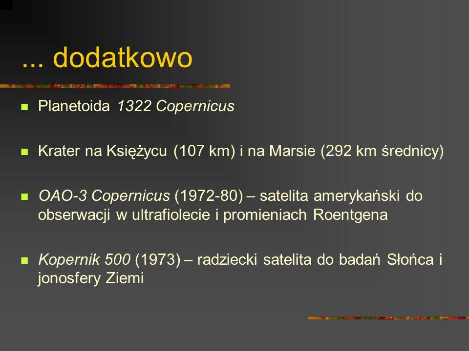 ... dodatkowo Planetoida 1322 Copernicus
