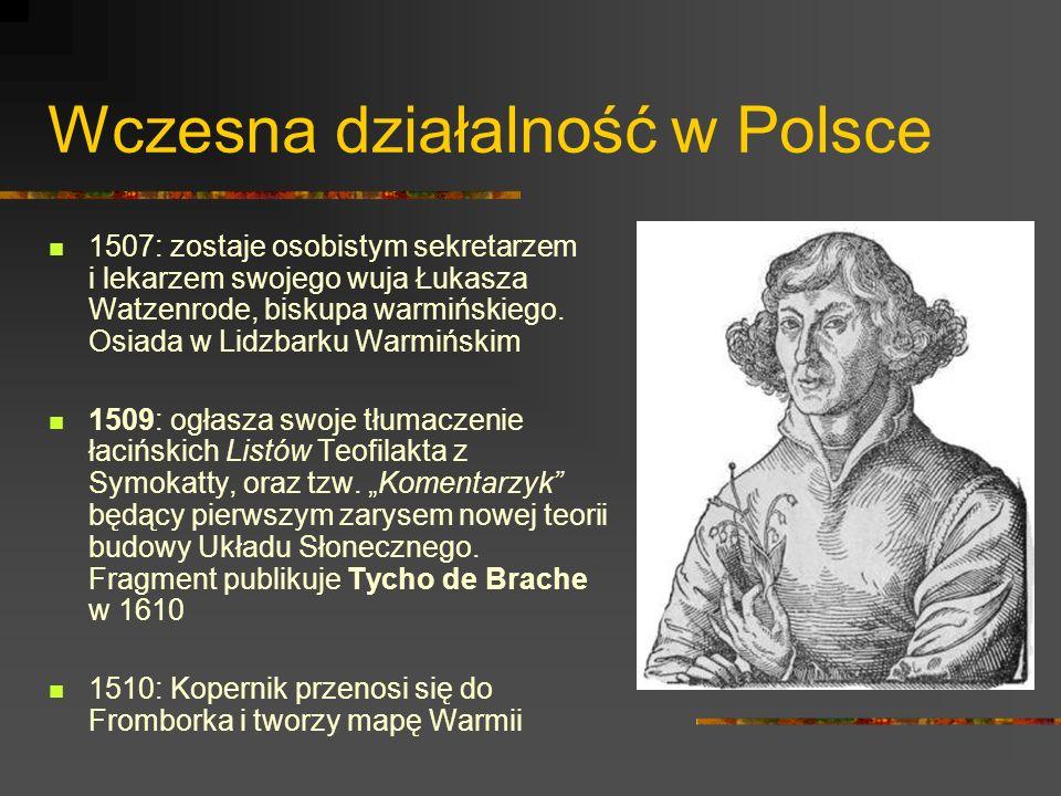 Wczesna działalność w Polsce