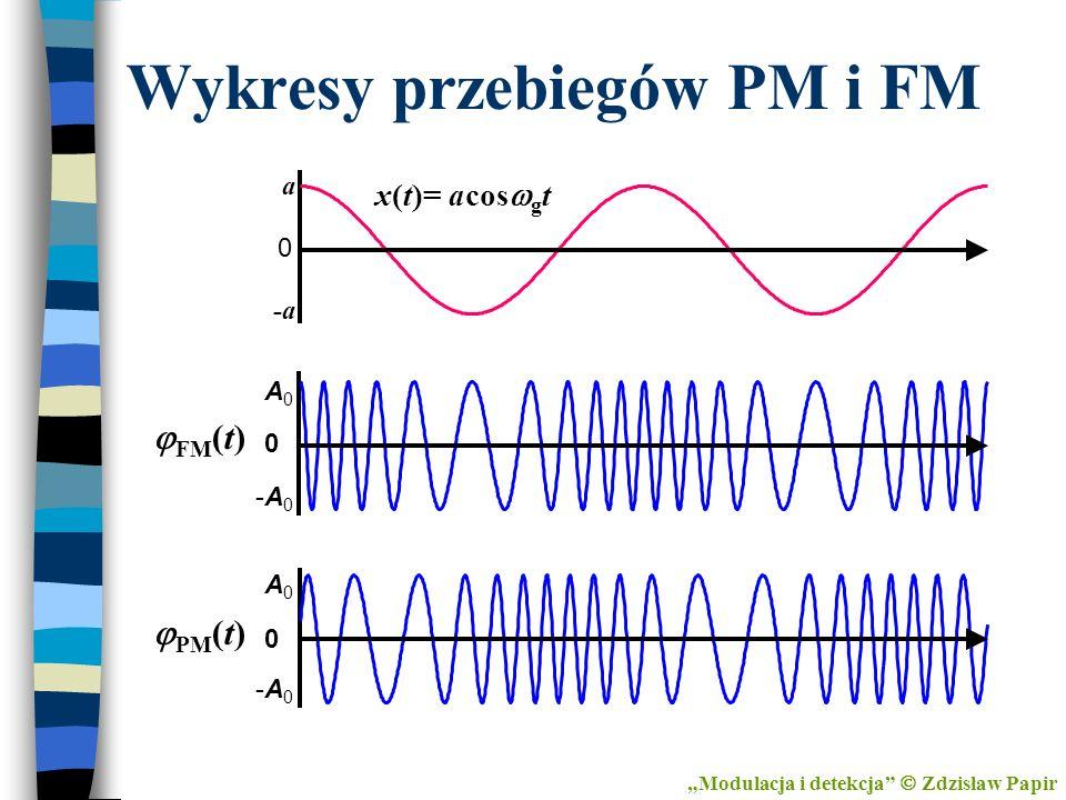 Wykresy przebiegów PM i FM