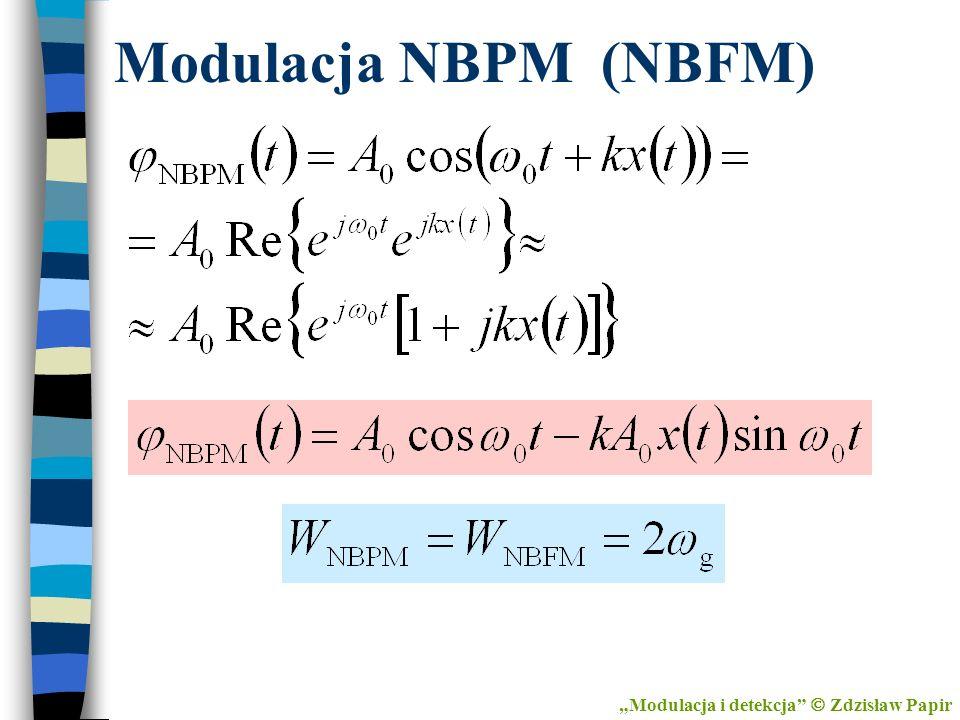 """Modulacja NBPM (NBFM) """"Modulacja i detekcja  Zdzisław Papir"""