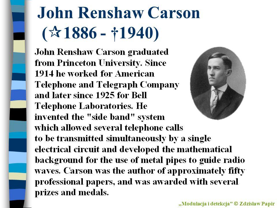 John Renshaw Carson (1886 - †1940)