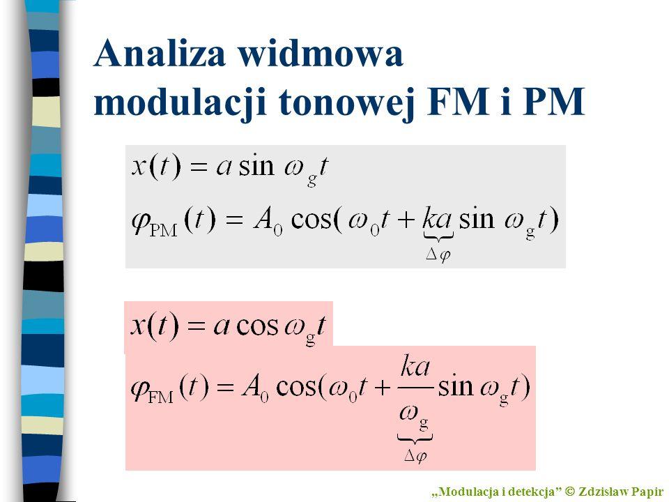 Analiza widmowa modulacji tonowej FM i PM