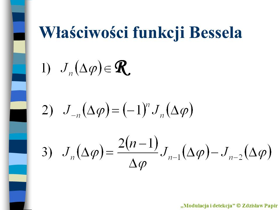 Właściwości funkcji Bessela