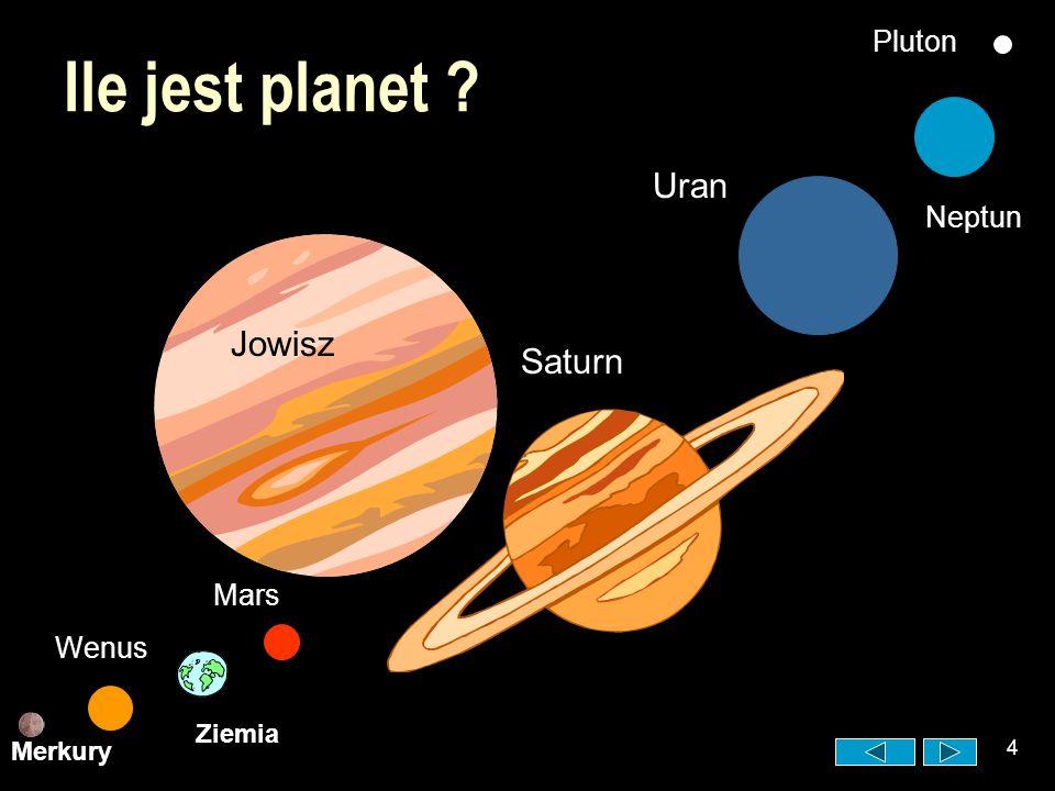 Ile jest planet Uran Jowisz Saturn Pluton Neptun Mars Wenus Ziemia
