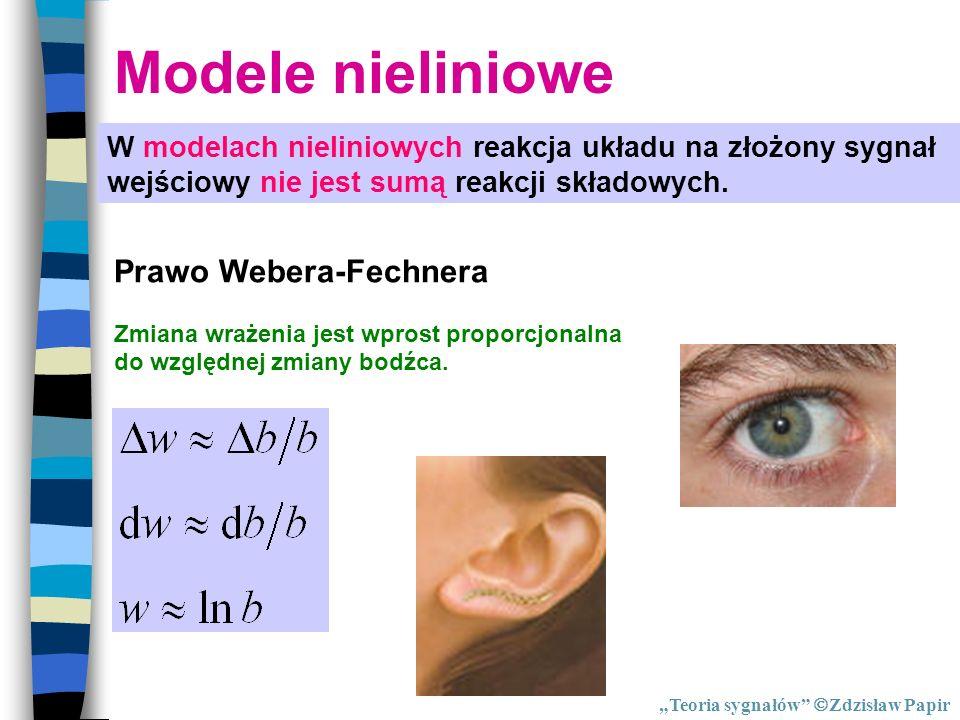Modele nieliniowe Prawo Webera-Fechnera