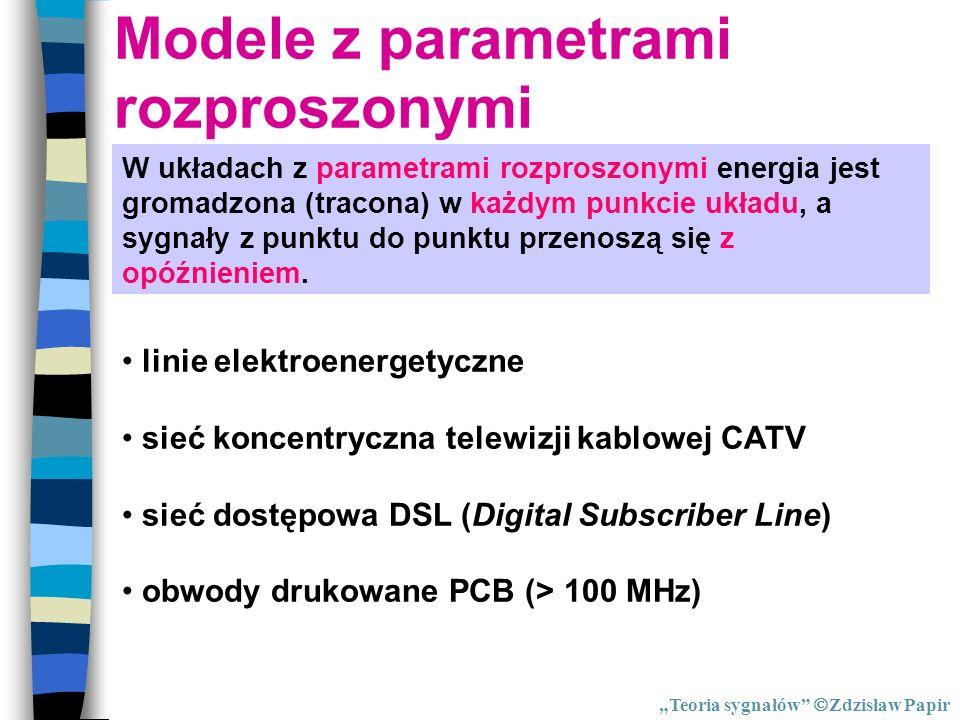 Modele z parametrami rozproszonymi