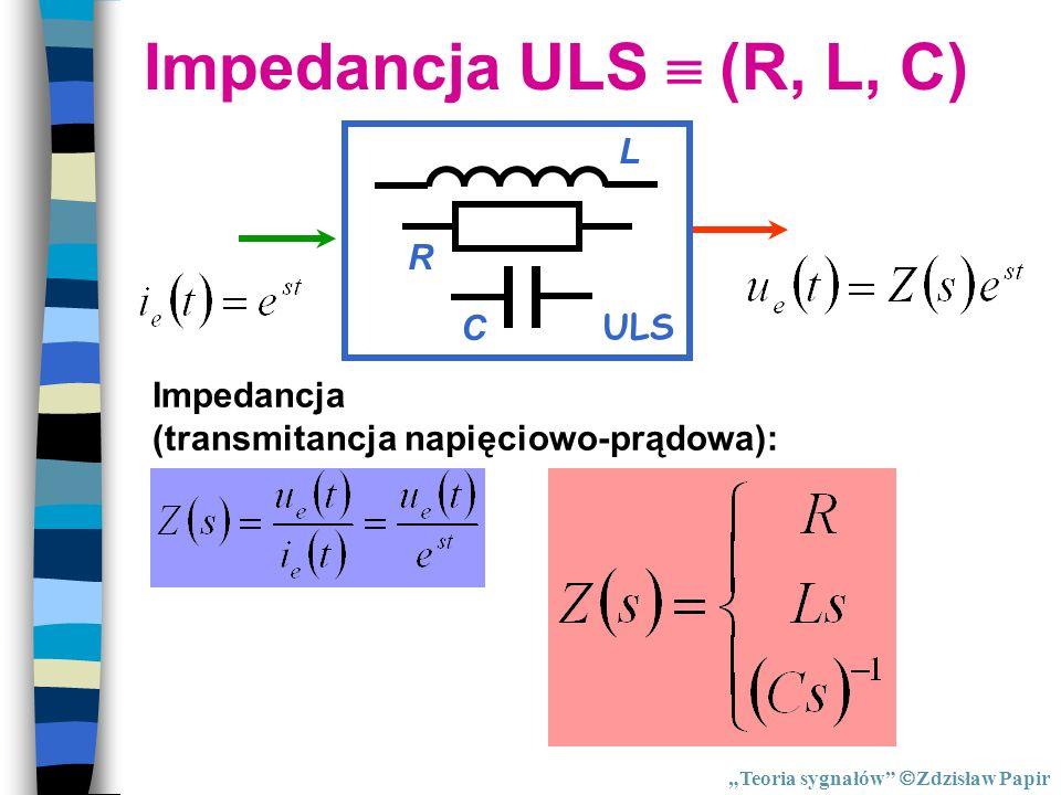 Impedancja ULS  (R, L, C) ULS R C L