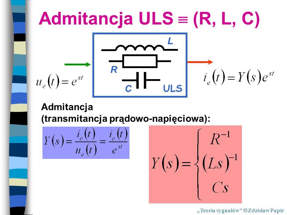 Admitancja ULS  (R, L, C) ULS R C L