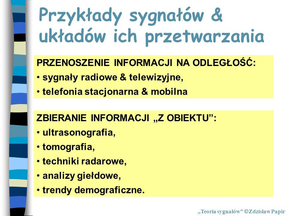 Przykłady sygnałów & układów ich przetwarzania