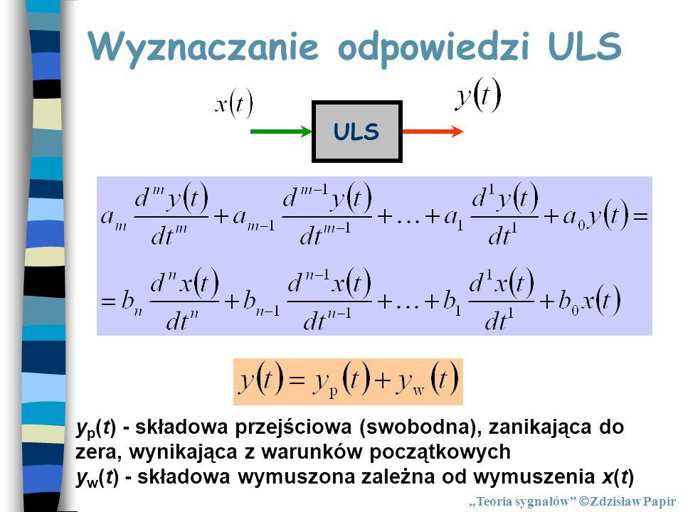 Wyznaczanie odpowiedzi ULS