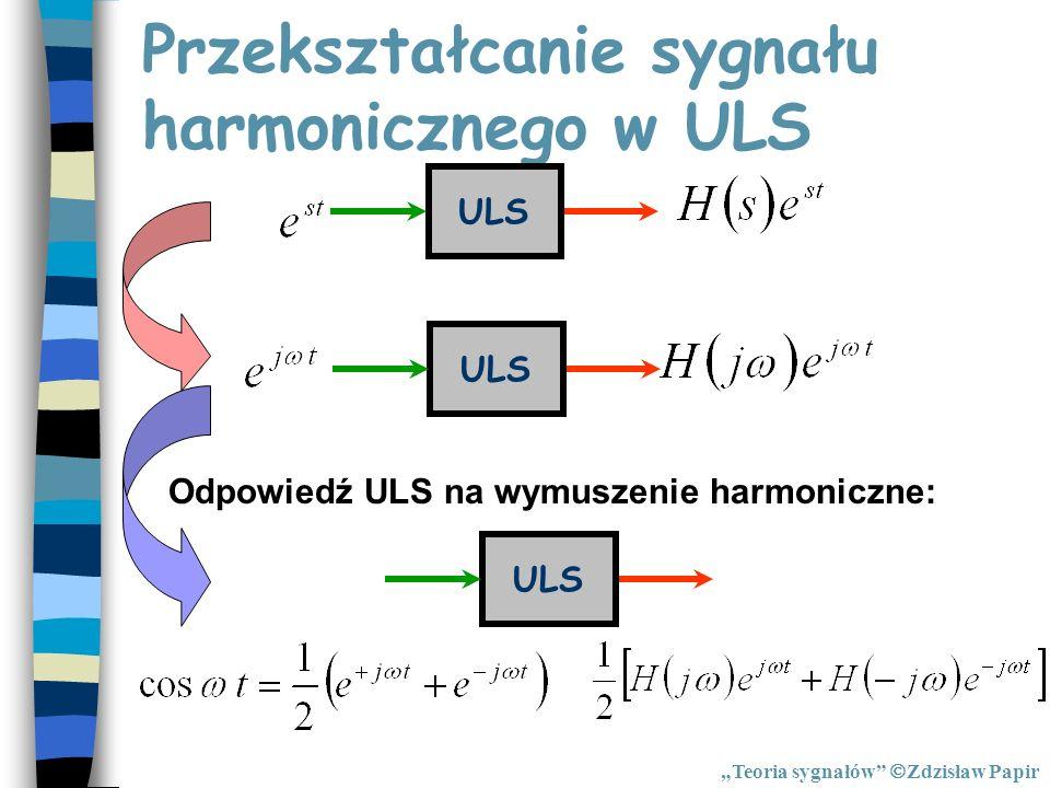Przekształcanie sygnału harmonicznego w ULS