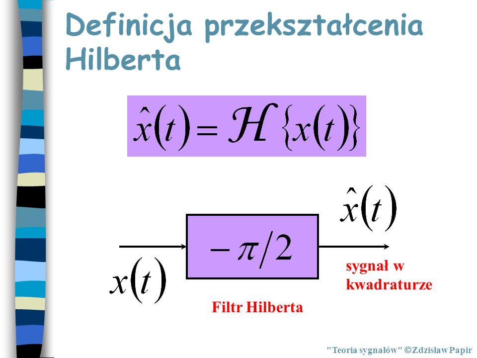 Definicja przekształcenia Hilberta