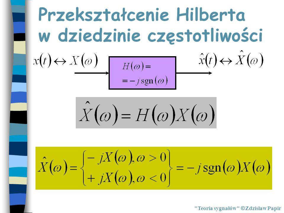 Przekształcenie Hilberta w dziedzinie częstotliwości