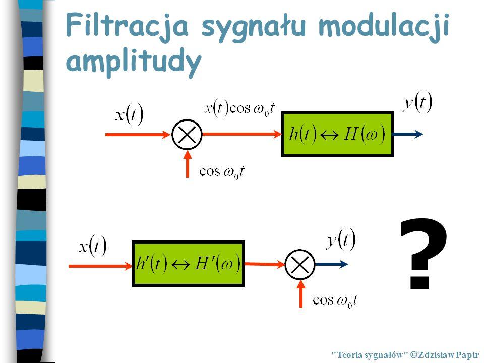 Filtracja sygnału modulacji amplitudy