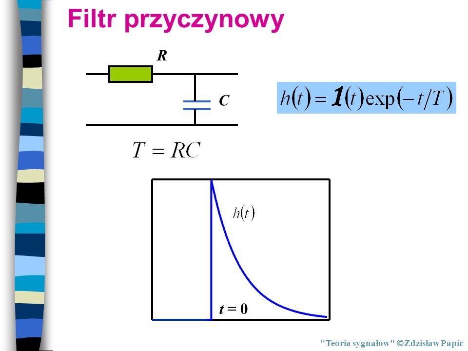 Filtr przyczynowy R C t = 0 Teoria sygnałów Zdzisław Papir