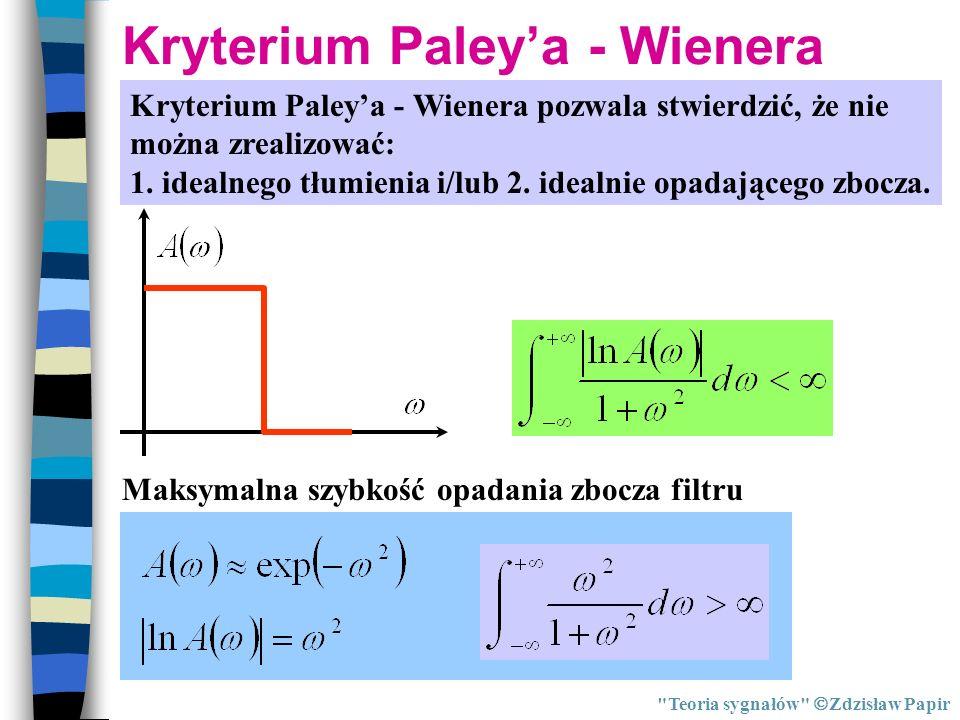 Kryterium Paley'a - Wienera