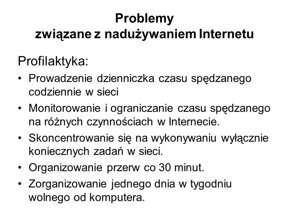 Problemy związane z nadużywaniem Internetu