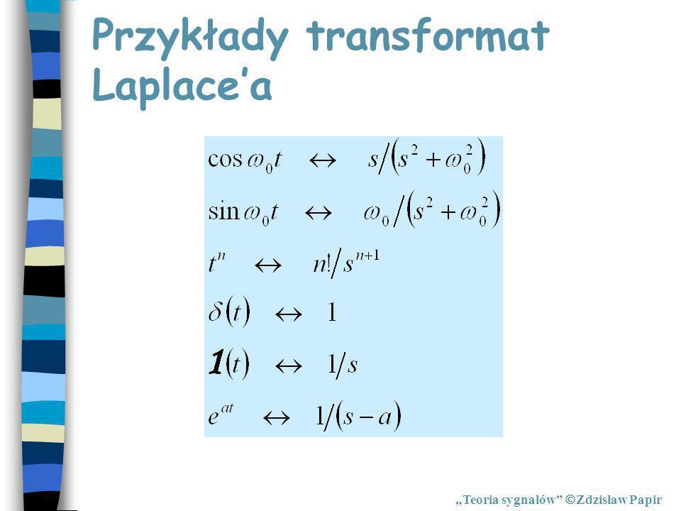 Przykłady transformat Laplace'a