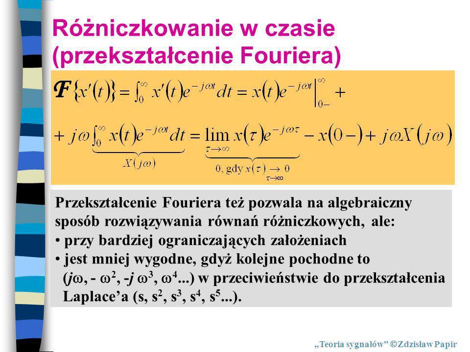 Różniczkowanie w czasie (przekształcenie Fouriera)