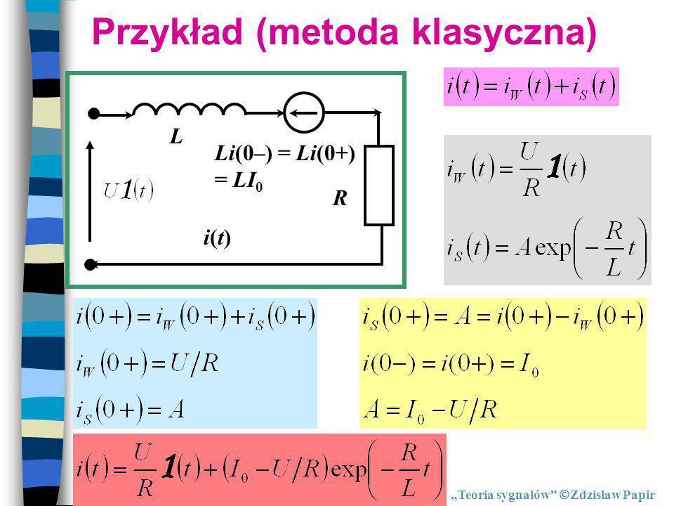 Przykład (metoda klasyczna)