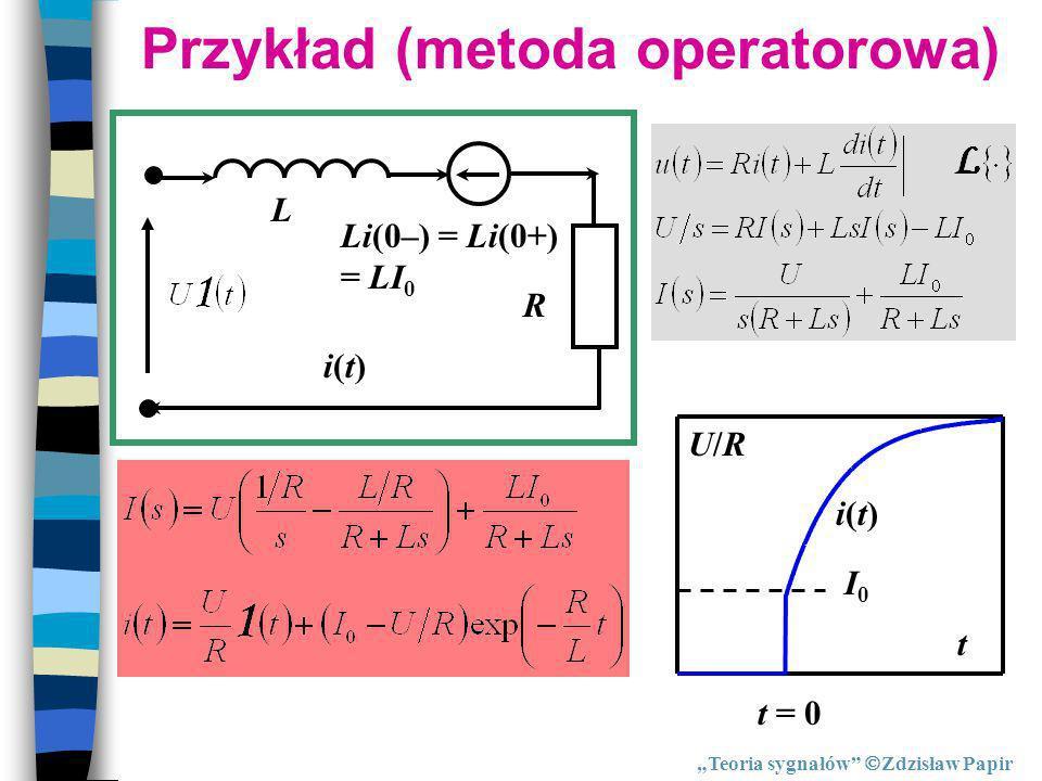 Przykład (metoda operatorowa)