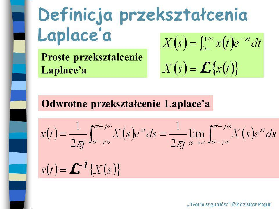 Definicja przekształcenia Laplace'a