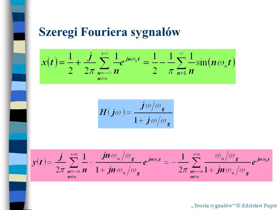 Szeregi Fouriera sygnałów